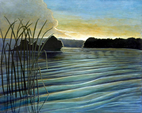 Rick Huotari Poster featuring the painting What A Beautifull Morning by Rick Huotari