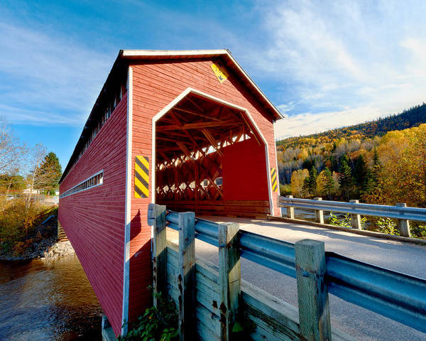 Bridge Poster featuring the photograph Wooden Covered Bridge by Ulrich Schade