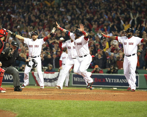 Playoffs Poster featuring the photograph World Series - St Louis Cardinals V by Rob Carr