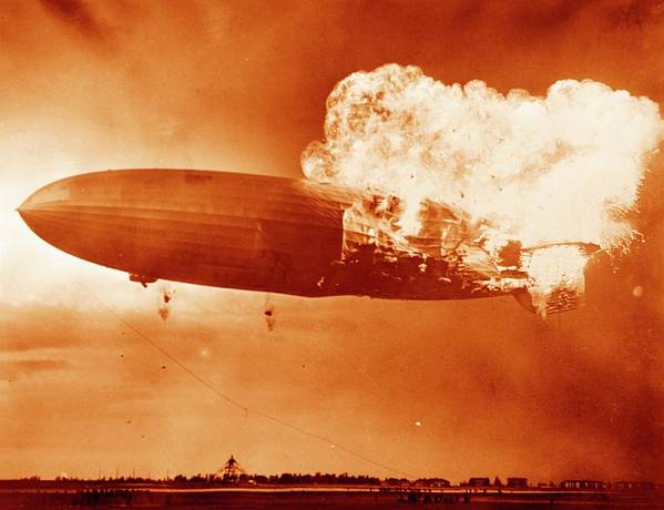 06/05/1937 Poster featuring the photograph Hindenburg Disaster by Us Navy
