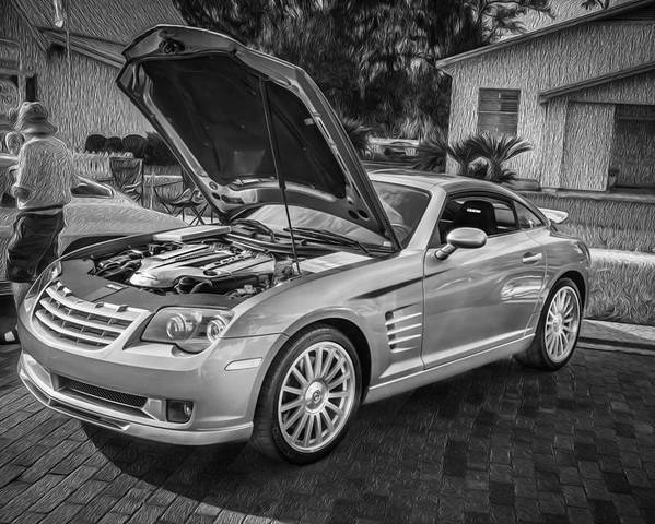 2005 Chrysler Supercharged Crossfire Srt6 Painted Bw Poster By Rich