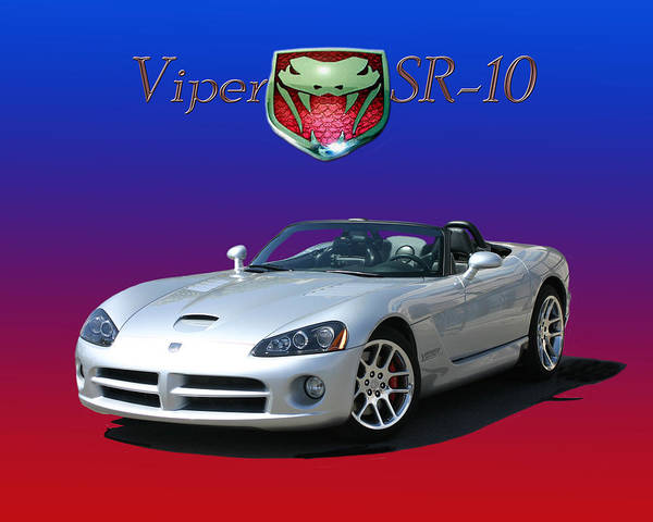 The V-10 Srt Viper Was Initially Conceived In Late 1988 At Chrysler's Advanced Design Studios Poster featuring the photograph 2006 Viper S R 10 by Jack Pumphrey