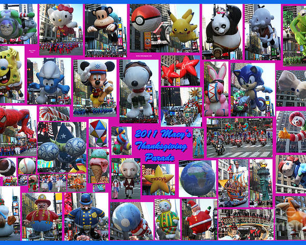 Macy's Thanksgiving Day Parade Poster featuring the photograph 2011 Macy's Thanksgiving Parade by Steven Spak