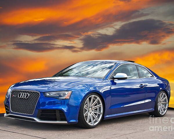 Auto Poster featuring the photograph 2013 Audi Rs5 Sports Coupe by Dave Koontz