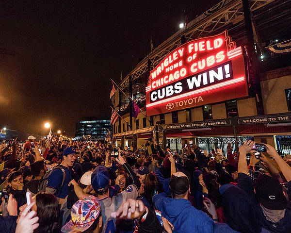 Playoffs Poster featuring the photograph 2016 World Series - Chicago Cubs V by Matt Kosterman