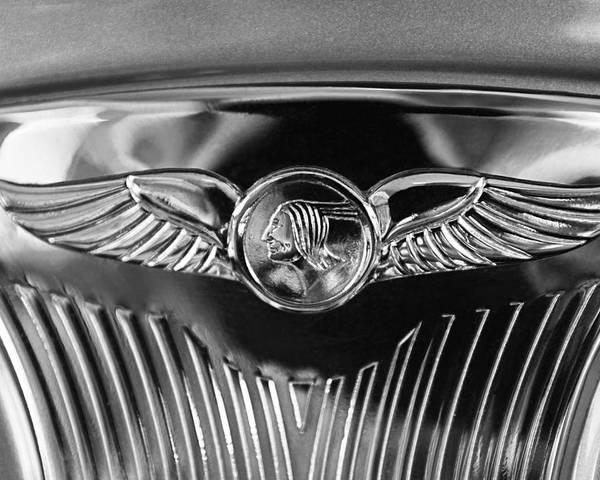 1933 Pontiac Emblem Poster featuring the photograph 1933 Pontiac Emblem by Jill Reger
