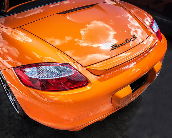 2008 Porsche Limited Edition Orange Boxster Poster By Rich Franco