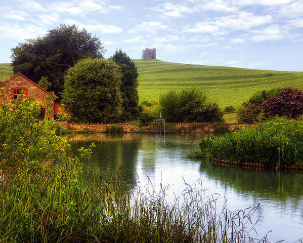 St Catherine's Chapel Poster featuring the photograph Abbotsbury by Joana Kruse