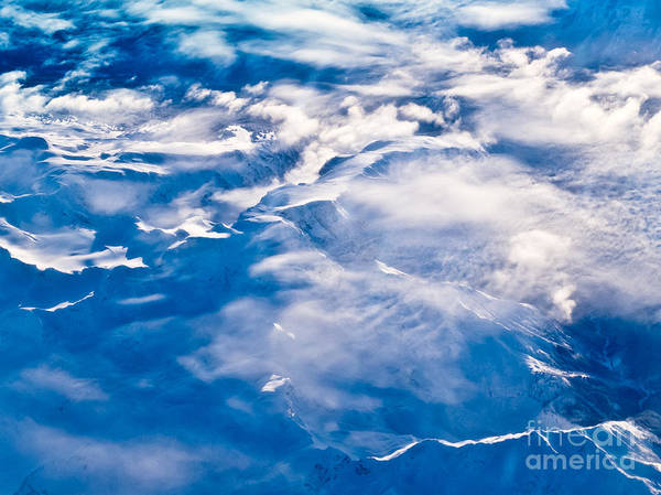 Aerial Poster featuring the photograph Aerial View Of Snowcapped Peaks In Bc Canada by Stephan Pietzko