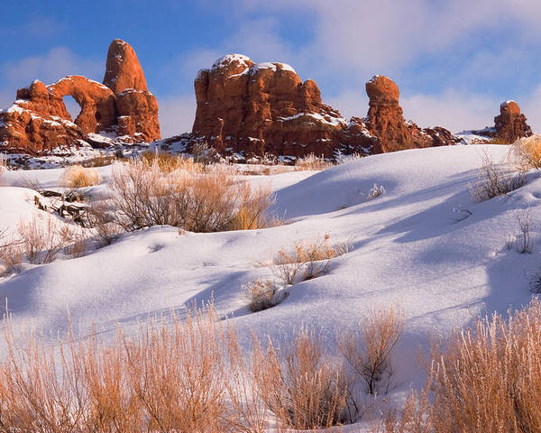 Turret Arch Poster featuring the photograph Arches National Park by Utah Images
