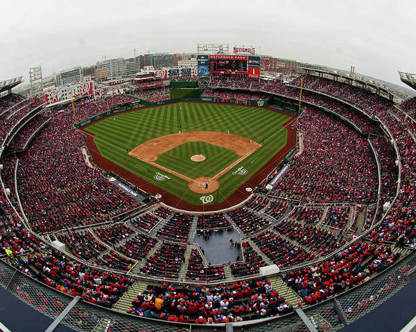 National League Baseball Poster featuring the photograph Atlanta Braves V. Washington Nationals by Mitchell Layton