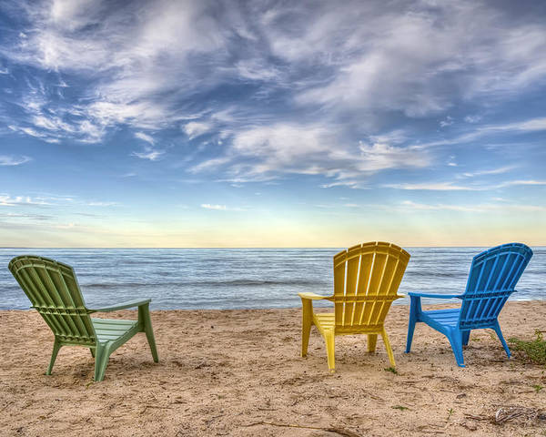 Chairs Poster featuring the photograph 3 Chairs by Scott Norris