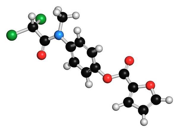 Diloxanide Poster featuring the photograph Diloxanide Furoate Amoebiasis Drug by Molekuul