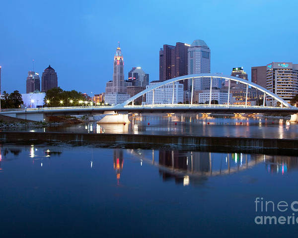 Columbus Poster featuring the photograph Downtown Skyline Of Columbus by Bill Cobb