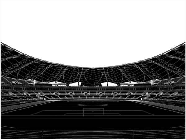 Stadium Poster featuring the digital art Football Soccer Stadium by Nenad Cerovic