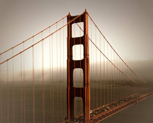 America Poster featuring the photograph Lovely Golden Gate Bridge by Melanie Viola
