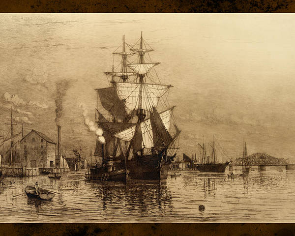 Schooner Poster featuring the photograph Historic Seaport Schooner by John Stephens