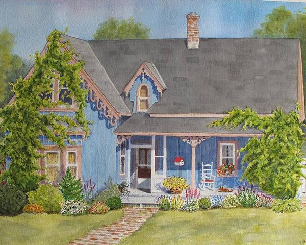 Canada Poster featuring the painting My Blue Heaven by Mary Ellen Mueller Legault