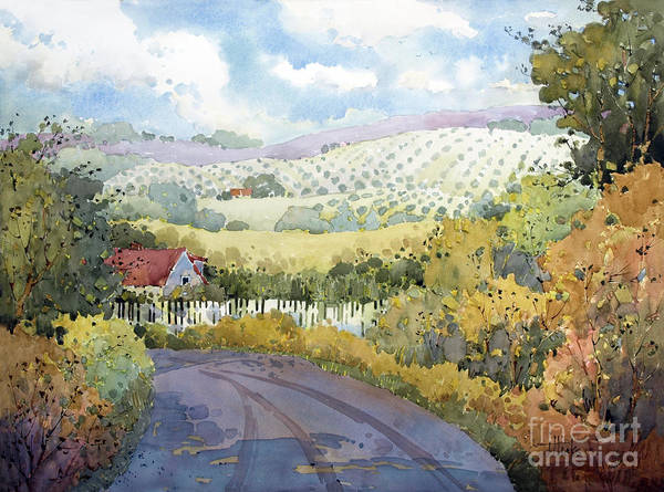 Vineyard Poster featuring the painting Out Santa Rosa Creek Road by Joyce Hicks