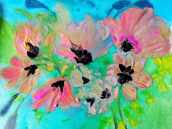 Floral Poster featuring the painting Poppies In Situ by Nikki Dalton