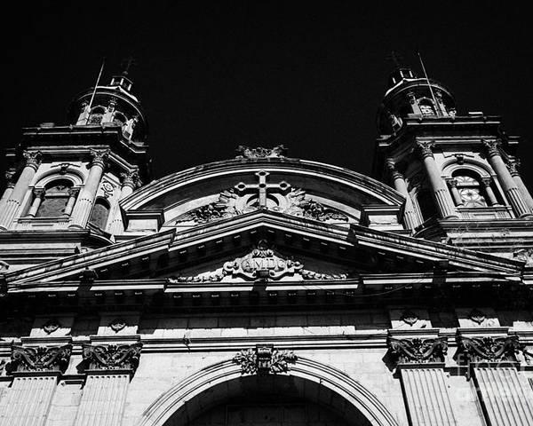 Santiago Poster featuring the photograph Santiago Metropolitan Cathedral Chile by Joe Fox