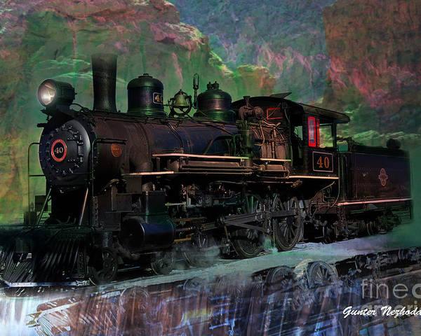 Steam Poster featuring the photograph Steam Locomotive by Gunter Nezhoda