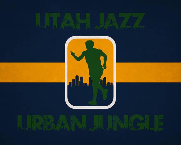 Jazz Poster featuring the photograph Utah Jazz by Joe Hamilton