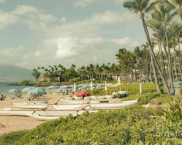 Aloha Poster featuring the photograph Wailea Beach Maui Hawaii by Sharon Mau