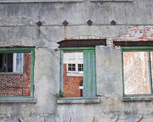 Windows Poster featuring the photograph 3 Windows by Pamela Schreckengost