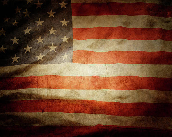 Flag Poster featuring the photograph American Flag by Les Cunliffe