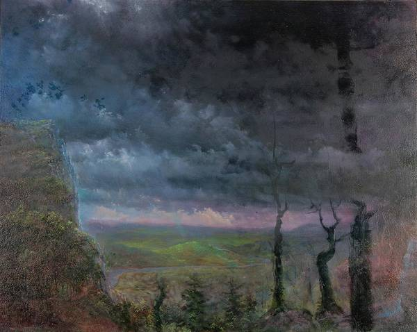 Landscape Poster featuring the painting Title Unknown by Edward David Lambert