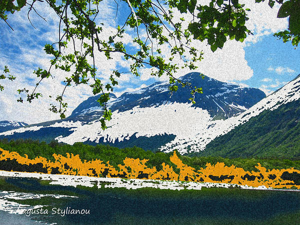 Norway Landscape Poster featuring the digital art Norway Landscape by Augusta Stylianou