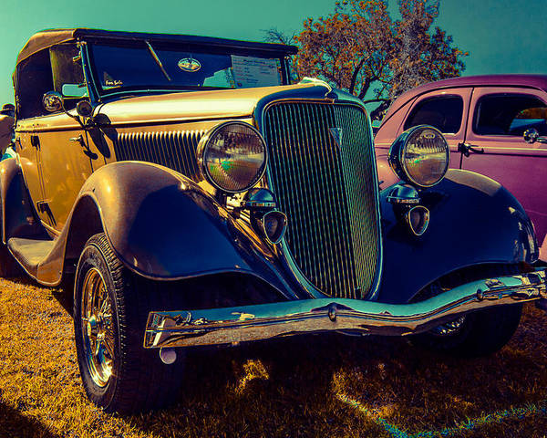 Classic Car Poster featuring the photograph 34 Ford Conv by Daniel Enwright