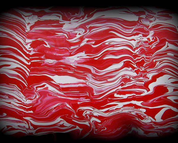 Red Poster featuring the painting Abstract 85 by J D Owen
