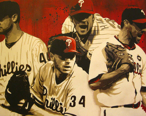Philadelphia Poster featuring the painting 4 Aces by Bobby Zeik