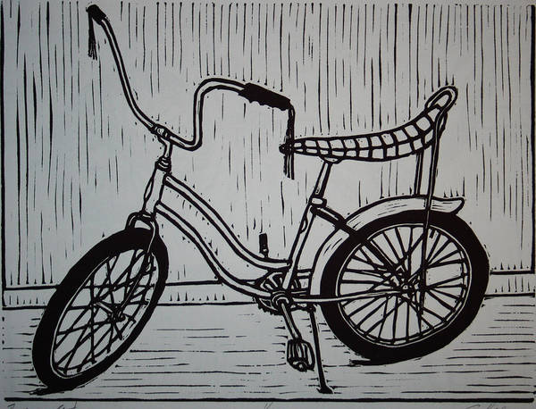 Bike Poster featuring the drawing Banana Seat by William Cauthern