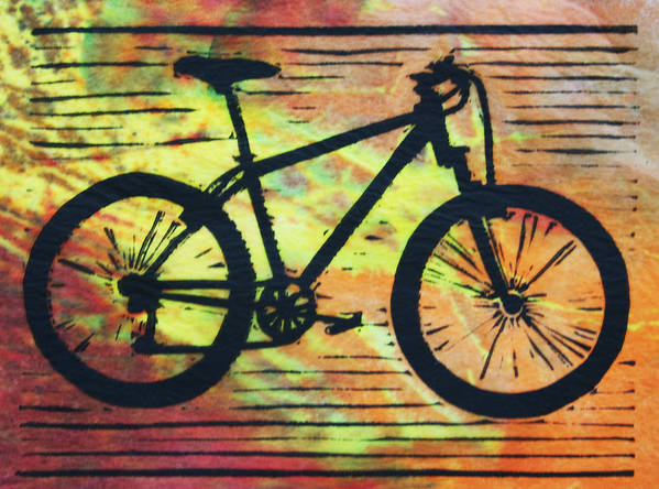 Bike Poster featuring the drawing Bike 10 by William Cauthern