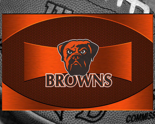 Browns Poster featuring the photograph Cleveland Browns by Joe Hamilton