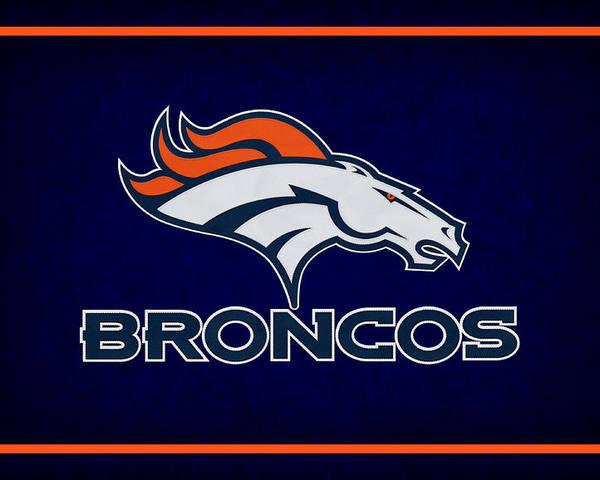 Broncos Poster featuring the photograph Denver Broncos by Joe Hamilton