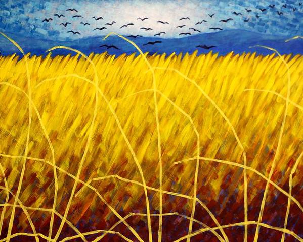Acrylic Poster featuring the painting Homage To Van Gogh by John Nolan