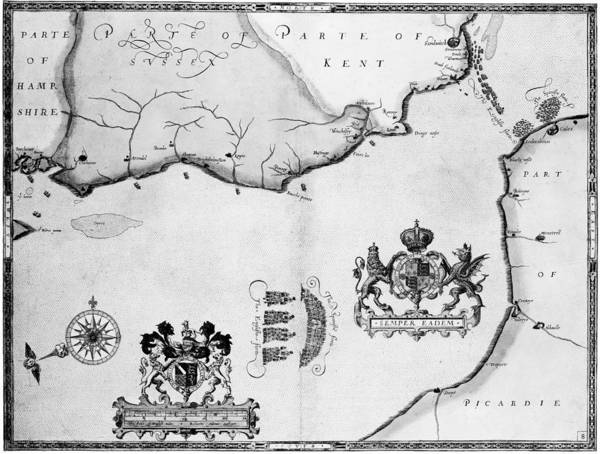1588 Poster featuring the photograph Spanish Armada, 1588 by Granger