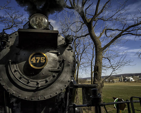 Strasburg Rr Poster featuring the photograph #475 Steam Engine On The Strasburg Rr 04 by Mark Serfass
