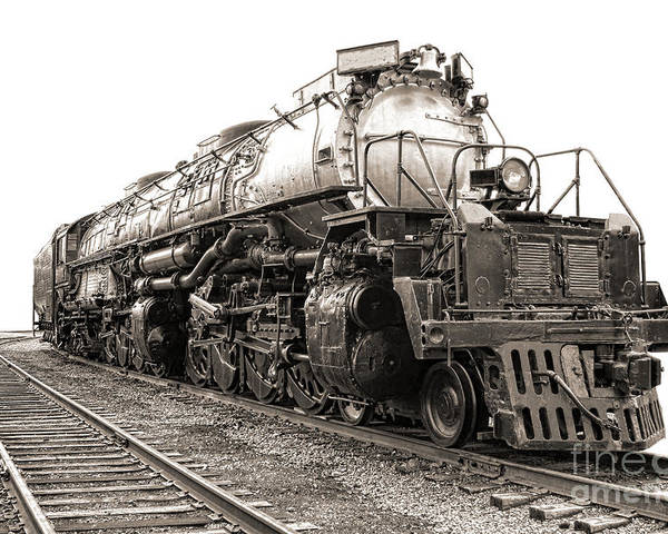 Locomotive Poster featuring the photograph 4884 Big Boy by Olivier Le Queinec