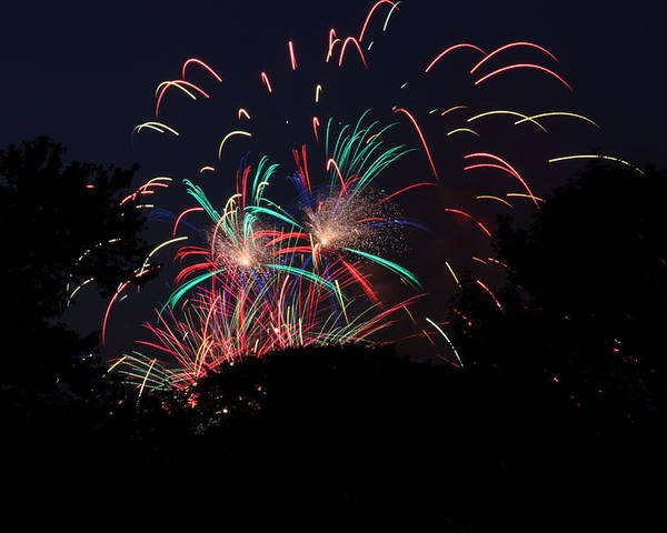 Washington Poster featuring the photograph 4th Of July Fireworks - 011310 by DC Photographer