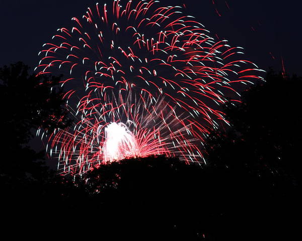 Washington Poster featuring the photograph 4th Of July Fireworks - 011312 by DC Photographer