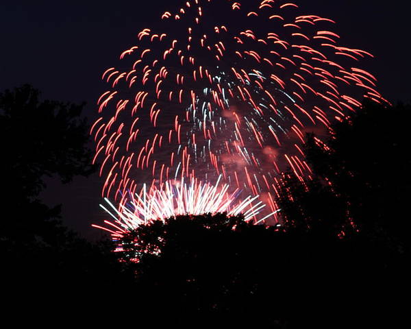 Washington Poster featuring the photograph 4th Of July Fireworks - 011313 by DC Photographer