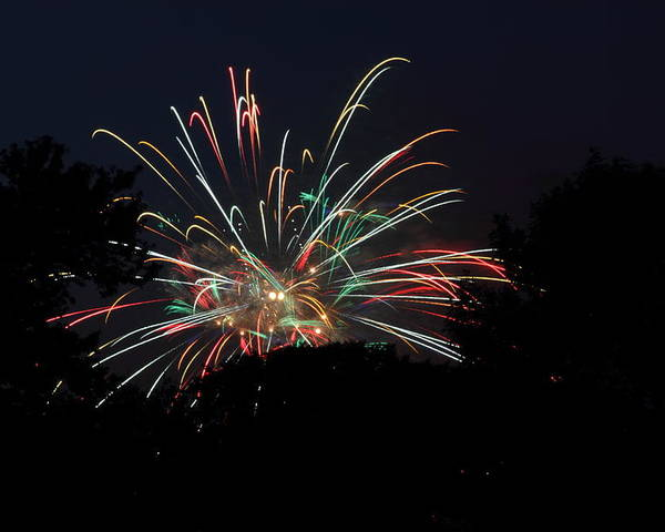 Washington Poster featuring the photograph 4th Of July Fireworks - 01139 by DC Photographer