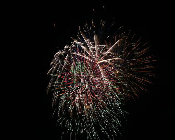 Fireworks Poster featuring the photograph 4th Of July Fireworks by Alan Hutchins