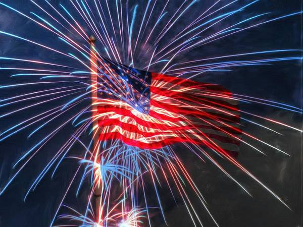 4th Poster featuring the digital art 4th Of July by Heidi Smith