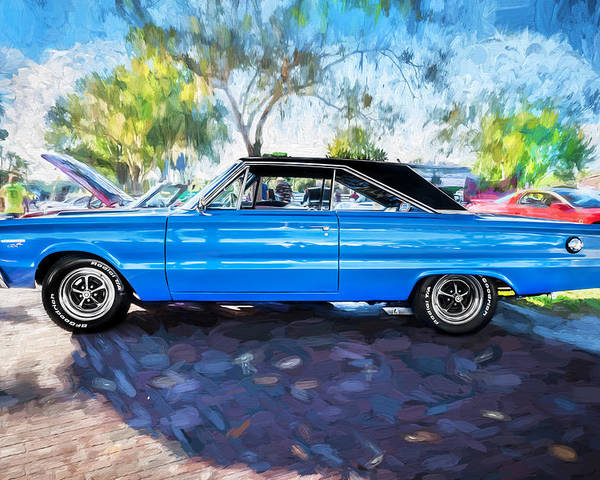 1967 Plymouth Poster featuring the photograph 1967 Plymouth Belvedere Gtx 440 Painted by Rich Franco